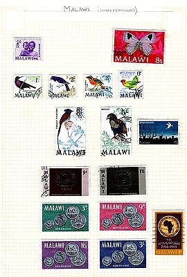 Malawi - 1 page of stamps from 20th century (1960's)