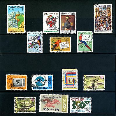 Colombia stamps - various 1970's used