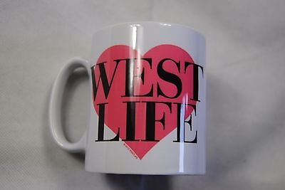 Westlife Heart Love Logo Mug Cup Tea Coffee New Official Rare Coast To Coast