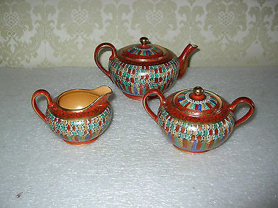 Japanese 1000 Thousand Faces 3 Pc Tea Set