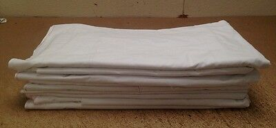 5 x LARGE WHITE COTTON DUST SHEETS WASHABLE DECORATING PAINTING DIY