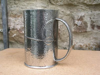 Liberty & Co Tudric Pewter Mug Hammered Effect Designed By Archibald Knox 0334