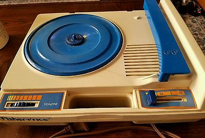 Vintage 1978 Fisher Price Kids Portable Turntable Phonograph Record Player Works