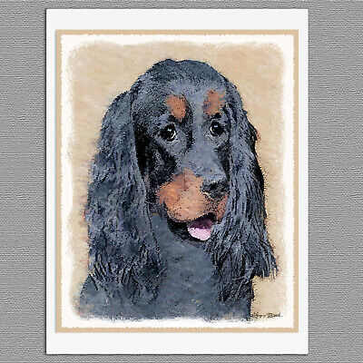 6 Gordon Setter Dog Blank Art Note Greeting Cards