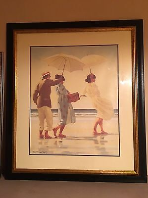 Very Large Heavy Deluxe Framed Art Print By Jack Vettriano