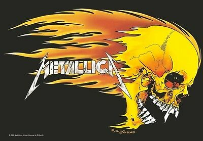 Metallica skull and flames Textile Poster Flag
