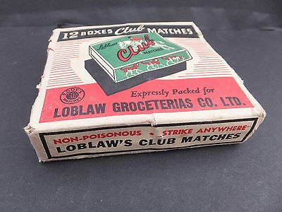 Antique groceries loblaw matches advertising horse sign display