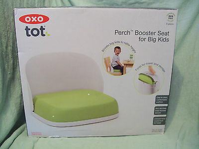 OXO Tot Seedling Booster Seat for Big Kids, Green, Folding