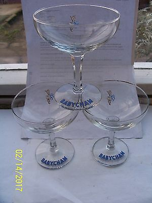 Babycham Glasses x3