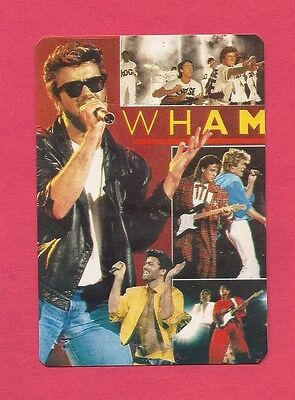 Wham Collectible Card 1986; Pop; Dance Pop; George Michael; 1980's