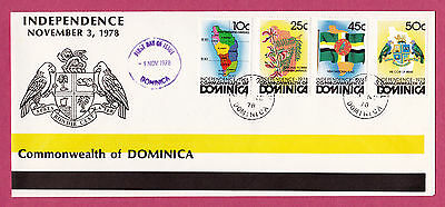 Dominica FDC. 1978 Independence. SG626-629. PMK Dominica. #1138