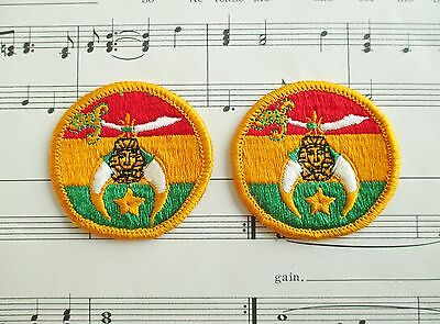 Pair of Vintage Shriners Patches