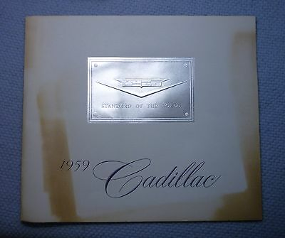 CADILLAC 1959 PRESTIGE BROCHURE, Excellent with Faded Cover
