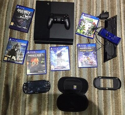 PS4 Console Bundle Including Ps Vita, Games And Controllers