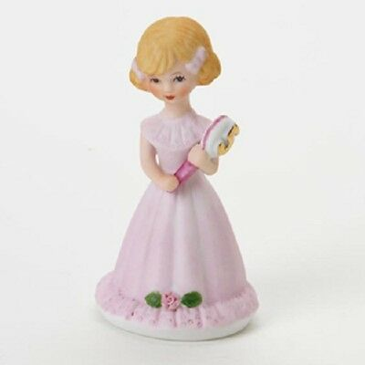 Enesco Growing Up Birthday Girls Blonde Porcelain Figurine Age 5 Girl with Box