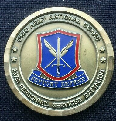 GENUINE 287th Army National Guard Ohio CSM Challenge Coin