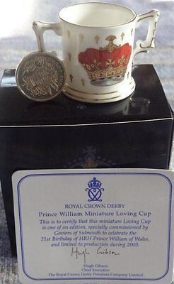 Royal Crown Derby Prince William's 21st Birthday Loving Cup