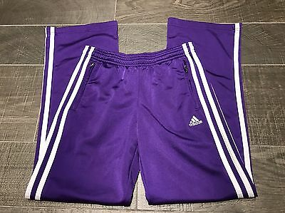 Adidas Girls Purple & White Stripe Tracksuit Bottoms Age 11-12 Years