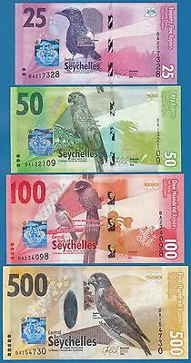 Seychelles New 2016 Set 4 notes 25 50 100 500 UNC Low Shipping! Combine FREE!