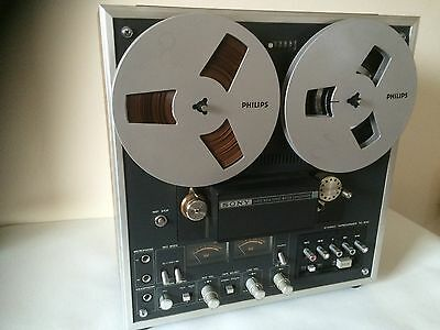 Sony TC-640 Stereo Taperecorder with Original Dust Cover + Extras - Superb!!