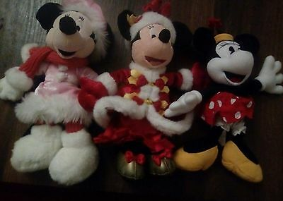 lot de peluches minnie disneyland paris édition limitée