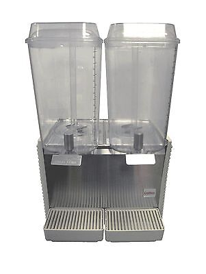 Crathco D25-4 2-bowl,5 gallon premix drink dispenser w/plastic panels