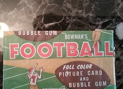 1954 Bowman Football Unopened Wax Pack
