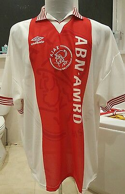 AJAX  1995  1996 Home Football Shirt Size XXL  trikot UMBRO