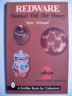 REDWARE ART POTTERY PRICE GUIDE COLLECTOR'S BOOK Molds w/Jars Crocks Churns Vase