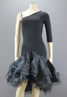 Ballroom Latin Samba Salsa Rumba Dance Black Dress – Size M – New w/Tags