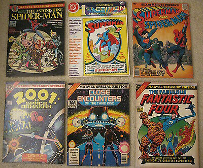 Lot of *16* Marvel/DC Treasury Size, Famous 1st Ed's, Spidey/Supes/Batman++ (FN)