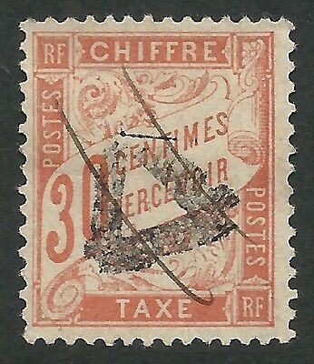 France - Timbre Taxe N°34  Oblitere Triangle/plume - Signe Calves  Cote: 100,00€