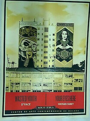 Shepard Fairey & D Face Wasted Youth Your Eyes Here Limited Show Edition