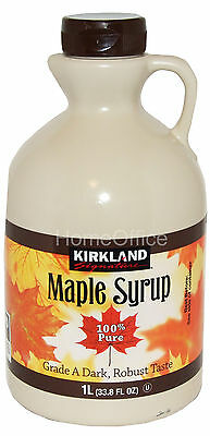 100% PURE Maple Syrup Dark Amber Grade A 1 Litre No Additives Product Of Canada