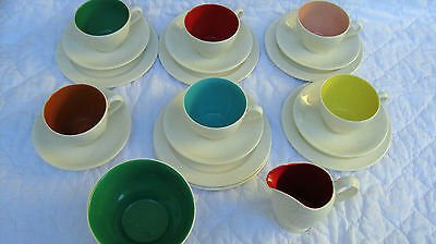 Mid Century Modern Grindley China Dishes Multi Color 1950's Retro HTF Vintage
