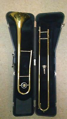 A Nice Used Gold 606 King Trombone With Case