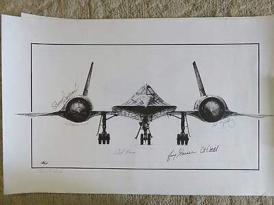 Signed Ed Walby Lithograph 4/1000 SR-71 signed by Boudreau Lee Yielding RARE