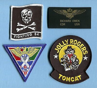 VF-84 JOLLY ROGERS FINAL COUNTDOWN MOVIE CAG OWENS US Navy Squadron Patch set