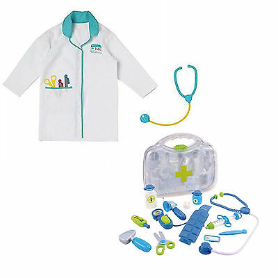 ELC Doctor Coat And Case Nurse Kit Role-Play Fancy Costume Dress Up Boys Girls