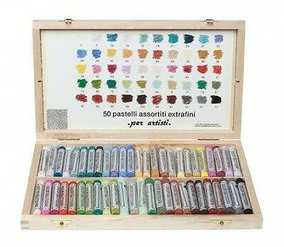 FERRARIO 50 pcs EXTRAFINE SOFT PASTELS SET FULL STICKS QUALITY (Made in Italy)