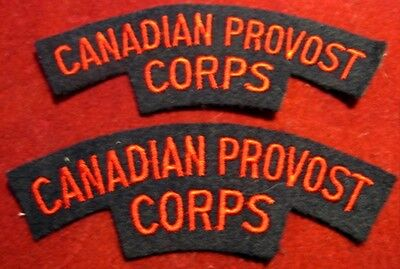 Canada: Royal Canadian Provost (MP) Corps shoulder flash set of 2
