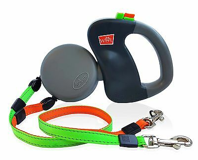Wigzi Dual Doggie Retractable Pet Leash - Walk 2 Dogs Without Tangling