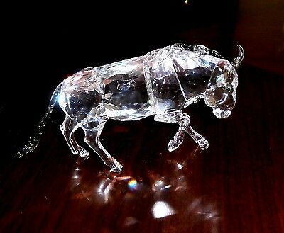 Swarovski Crystal Gnu Item # 933662 New In Box with Certificate of Authenticity