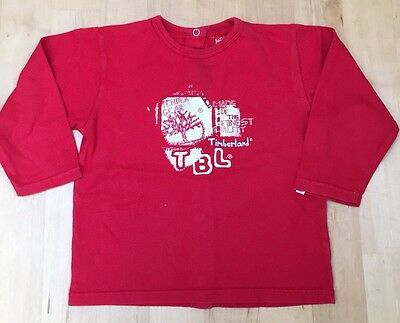 Timberland Boys Long Sleeved Tshirt Red Age 18 Months