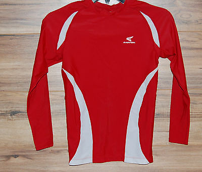 Easton Baseball Softball Long Sleeve Compression Shirt Red Fitted Youth Large