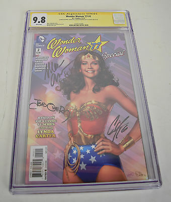 Wonder Woman 77 2 DC 9.8 CGC SS Signed 2x Marc Andreyko Cat Staggs Jason Badower