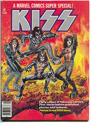 Marvel Comics Super Special 1 1977 FN VF Real KISS Blood Army Band Poster
