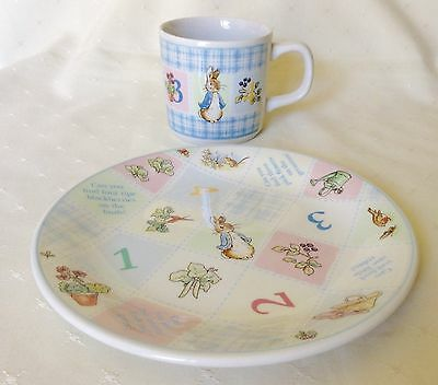 Wedgwood - Peter Rabbit - 1 2 3 4 - Cup & Plate Set - 1997