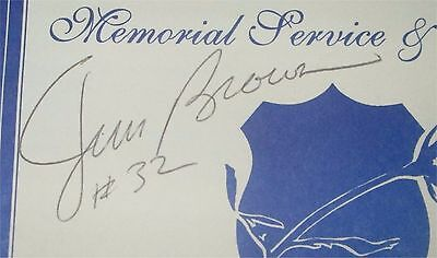 Jim Brown Auto On Police Program Cleveland Browns Rb Hof All Pro Nfl