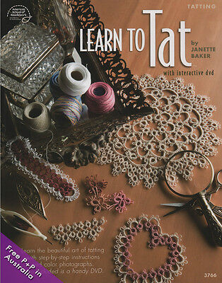 NEW Learn To Tat by Janette Baker with interactive DVD